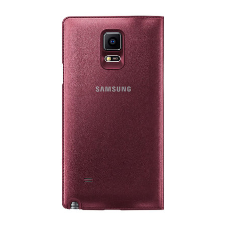 competitive price f041e 44c80 Official Samsung Galaxy Note 4 LED Flip Wallet Cover - Plum Red