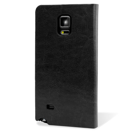 Encase Leather-Style Galaxy Note 4 Wallet Stand Case - Black