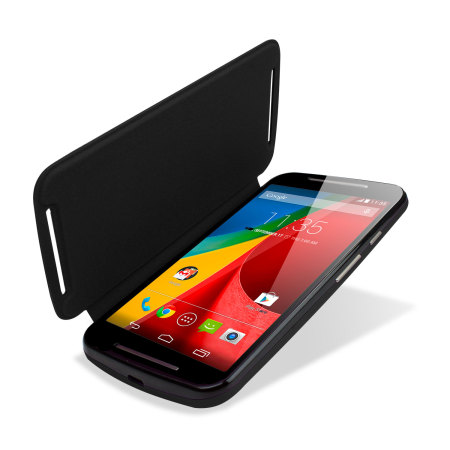 cheaper 14b25 464c1 Official Motorola Moto G 2nd Gen Flip Shell Cover - Black