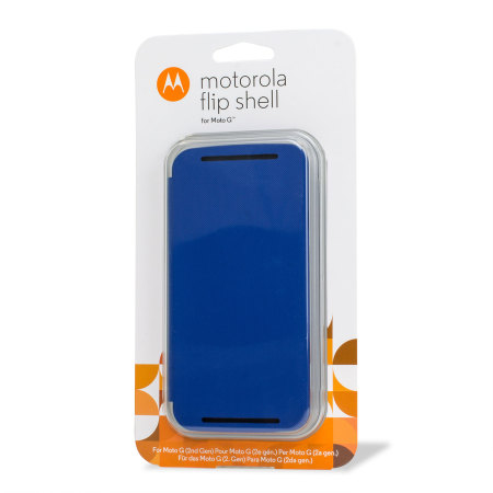 new product ab353 afd19 Official Motorola Moto G 2nd Gen Flip Shell Cover - Royal Blue