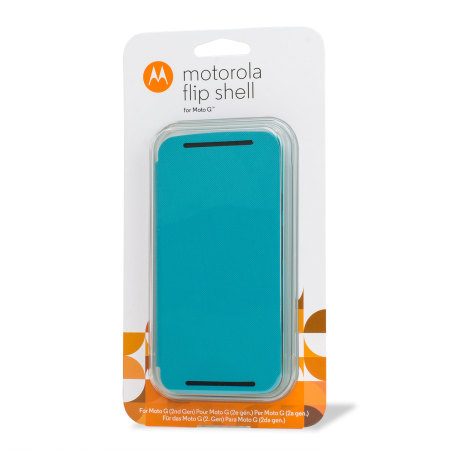 new product 81f88 9cd48 Official Motorola Moto G 2nd Gen Flip Shell Cover - Turquoise