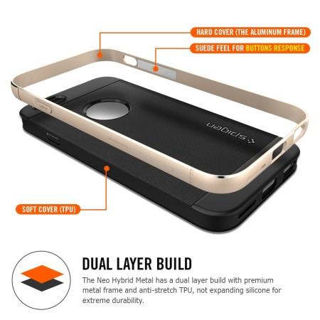 Coque iPhone 6S / 6 Spigen SGP Neo Hybrid Metal - Bleue