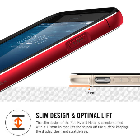 Spigen Neo Hybrid Metal iPhone 6S Plus / 6 Plus Case - Metal Red