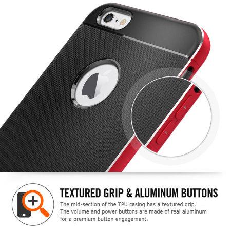 best service 5aada 80b23 Spigen Neo Hybrid Metal iPhone 6S Plus / 6 Plus Case - Space Grey