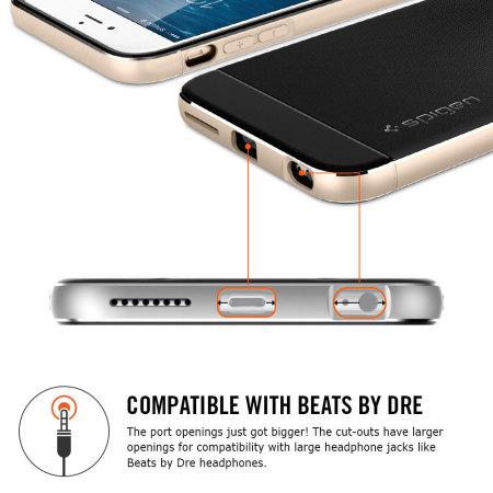 a65104ef633 Funda iPhone 6s Plus / 6 Plus Spigen Neo Hybrid Metal - Gris Espacial