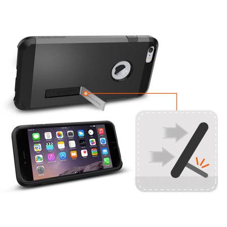 Spigen Tough Armor iPhone 6S Plus / 6 Plus Case - Smooth Black