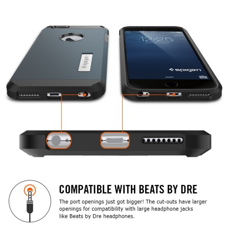 Spigen Tough Armor iPhone 6S Plus / 6 Plus Case - Satin Silver
