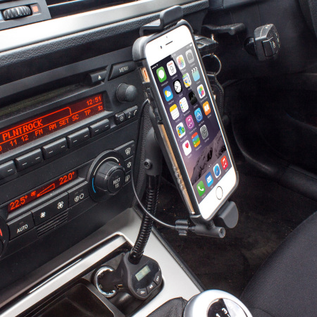 low priced c7132 ed691 RoadWarrior iPhone 6 / 6 Plus Car Holder, Charger & FM Transmitter