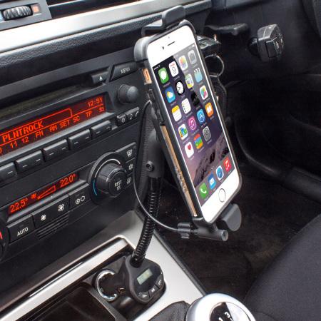 roadwarrior kfz halterung mit fm transmitter iphone 6 6. Black Bedroom Furniture Sets. Home Design Ideas