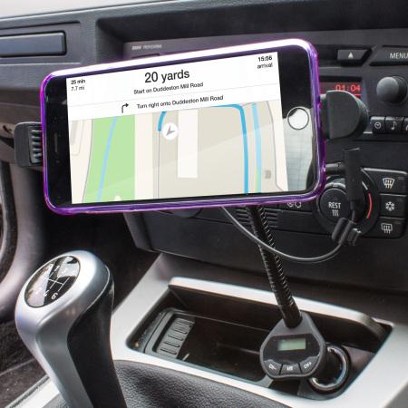 RoadWarrior iPhone 6 6 Plus Bilhållare , laddare och FM sändare