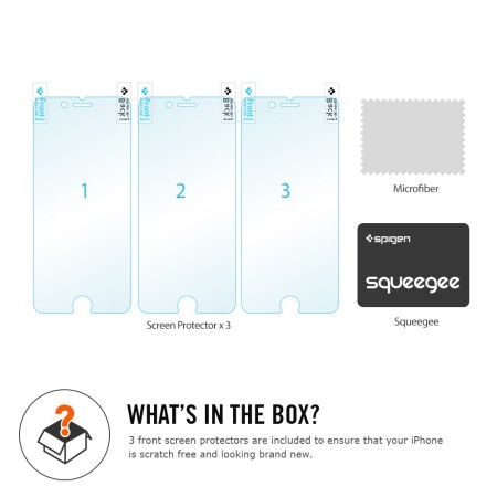 Spigen Crystal iPhone 6S / 6 Film Screen Protector - Three Pack