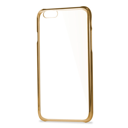 Glimmer Polycarbonate iPhone 6S / 6 Shell Case - Gold and Clear