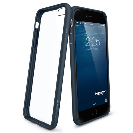 Spigen Ultra Hybrid iPhone 6S Plus / 6 Plus Bumper Case - Metal Slate