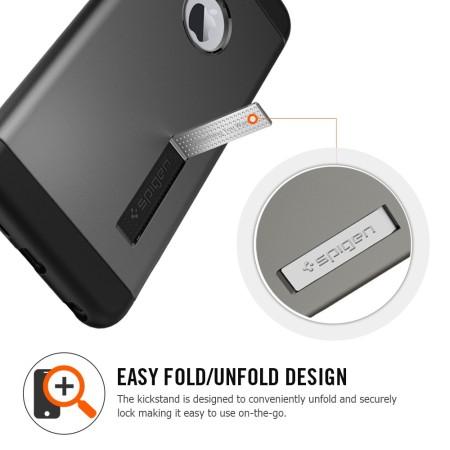 Spigen Slim Armor iPhone 6S Plus / 6 Plus Tough Case - Metal Slate