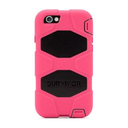 various colors 1eeda fcc0a Griffin Survivor iPhone 6S / 6 All-Terrain Case - Pink / Black