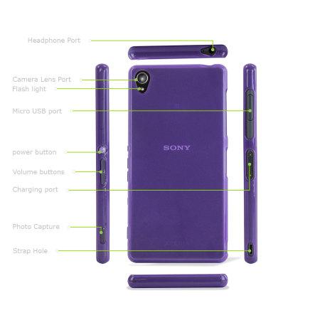 FlexiShield Sony Xperia Z3 Case - Purple