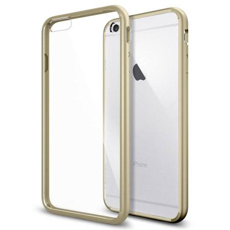 Spigen Ultra Hybrid iPhone 6S Plus / 6 Plus Bumper Case Champagne Gold