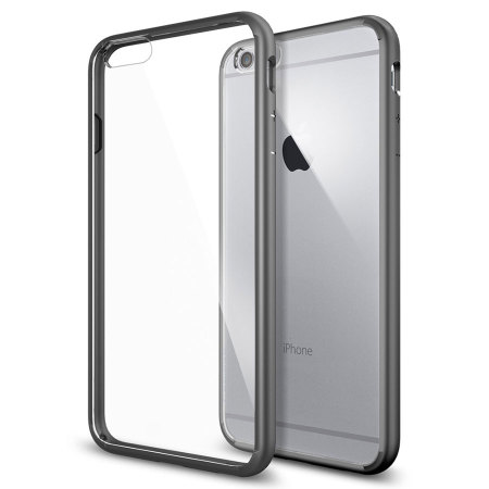 Spigen Ultra Hybrid iPhone 6S Plus / 6 Plus Bumper Case - Gunmetal
