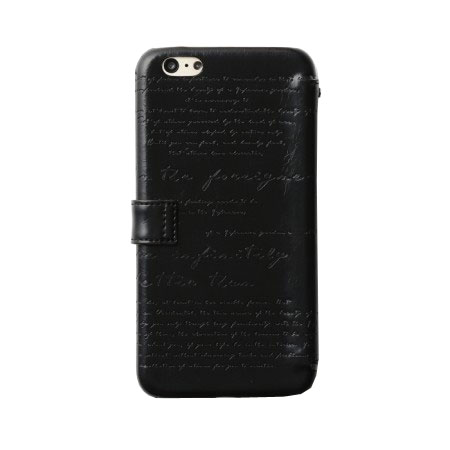 Zenus Lettering Diary iPhone 6S Plus / 6 Plus Case - Black