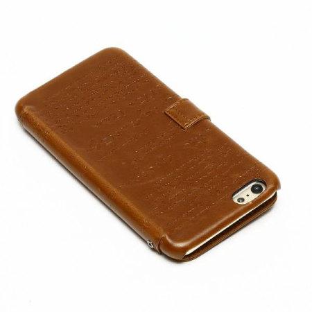 Zenus Lettering Diary iPhone 6S Plus / 6 Plus Case - Brown