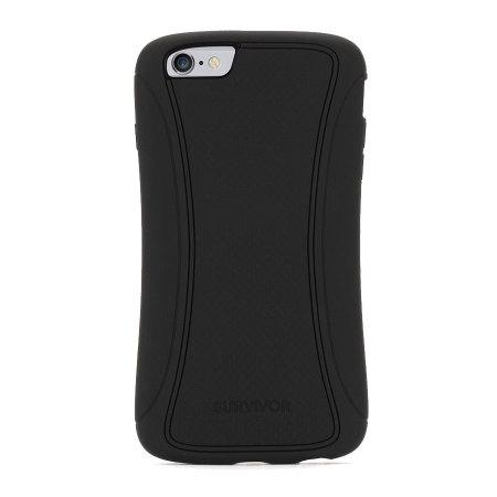 Coque   protège écran iPhone 6 Plus   6S Plus Griffin Survivor - Noire 7c49718988c3