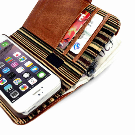 version even tuff luv iphone 6s 6 vintage leather wallet case with rfid brown this variant participant
