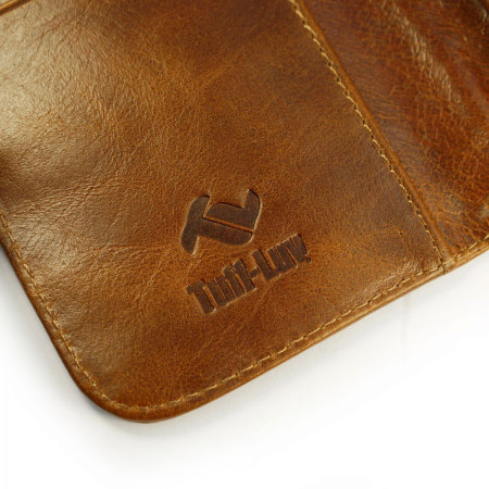 tuff luv alston craig leather iphone 6s 6 wallet pouch case brown