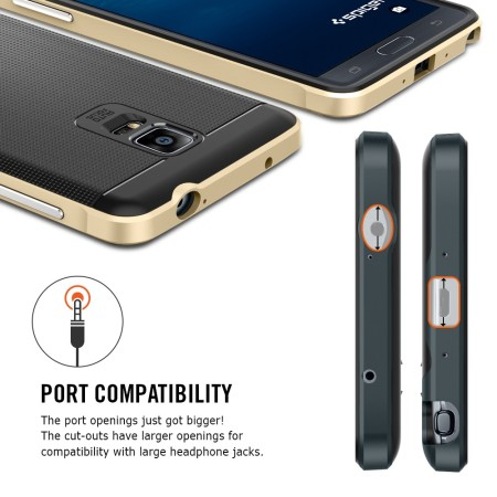 lowest price 432ff 497c2 Spigen Neo Hybrid Samsung Galaxy Note 4 Case - Metal Slate