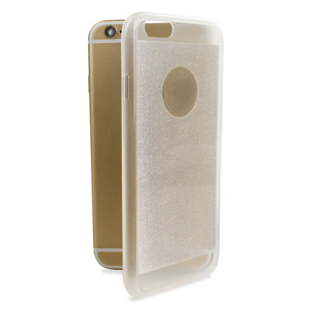 Encase FlexiShield Glitter iPhone 6S / 6 Gel Case - Clear
