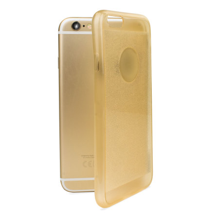 encase flexishield glitter iphone 6s / 6 gel case - gold
