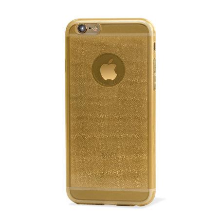 encase flexishield glitter iphone 6s 6 gel case gold