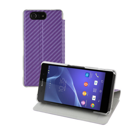 Roxfit Slim Book Sony Xperia Z3 Compact Case - Carbon Purple