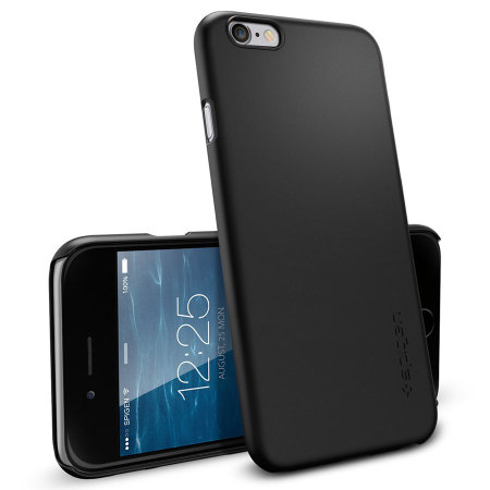 Spigen Thin Fit iPhone 6 Plus Shell Case - Smooth Black