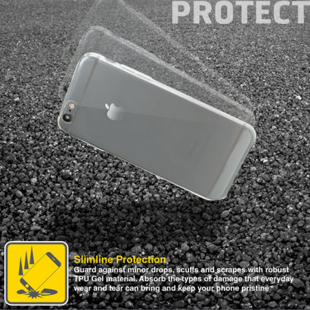 olixar ultra-thin iphone 6 gel case - 100% clear