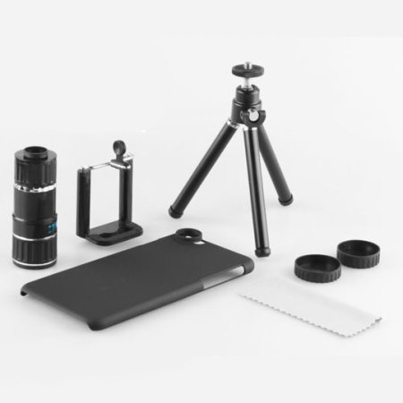 reputable site 5eb6f 1f17d iPhone 6S Plus / 6 Plus 12x Zoom Telescope with Tripod Stand - Black