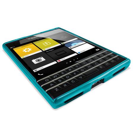 coque blackberry passport flexishield encase bleue claire. Black Bedroom Furniture Sets. Home Design Ideas