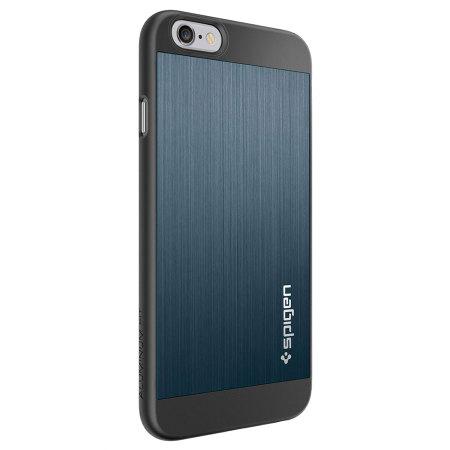premium selection b6748 e7709 Spigen Aluminum Fit iPhone 6S / 6 Shell Case - Metal Slate