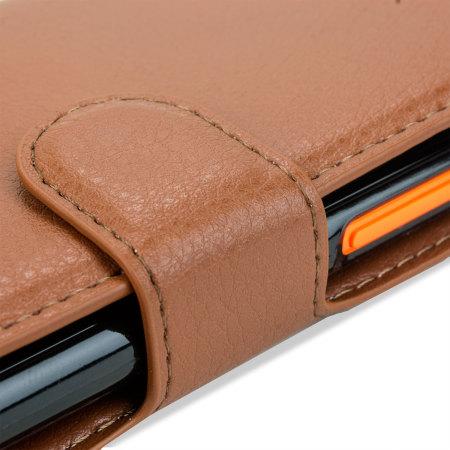Encase Leather-Style Nokia Lumia 735 Wallet Case - Brown