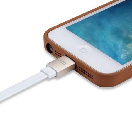 Câble Lightning Just Mobile AluCable 1,2 Mètres - Blanc / Or