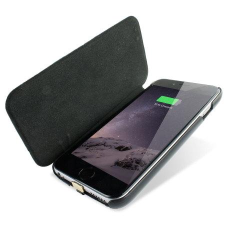 sale retailer d8e53 f36f6 enCharge Solar iPhone 6S / 6 Battery Flip Case 2,800mAh - Black