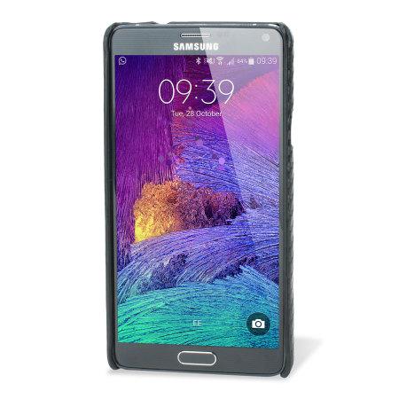 Encase Carbon Fibre-Style Samsung Galaxy Note 4 Case - Black