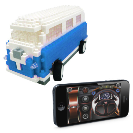 beauty utico app controlled camper van for ios and android blue and Side