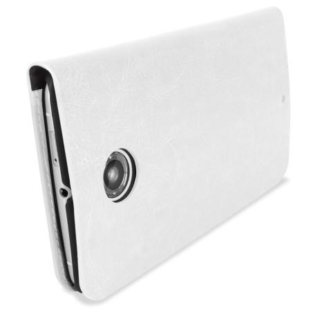 Encase Leather-Style Nexus 6 Wallet Case - White