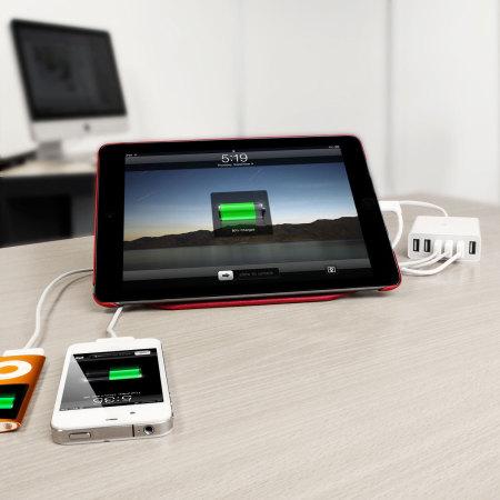 Olixar 6 USB Smart IC Oplader EU AC Adapter - 10 Amps  / 50W