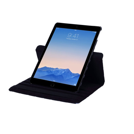 Encase Leather-Style Rotating iPad Air 2 Leather Case - Black Dot