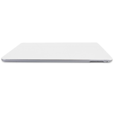 Encase Transparent Shell iPad Air 2 Folding Stand Case - White
