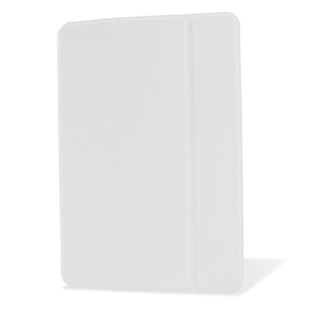 Encase Transparent iPad Mini 3 / 2 / 1 Folding Stand Case - White