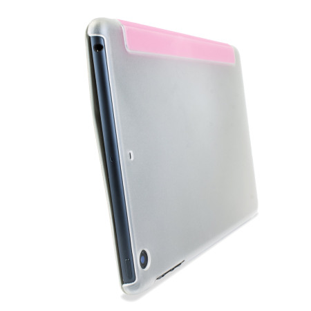 Encase Transparent iPad Mini 3 / 2 / 1 Folding Stand Case - Pink