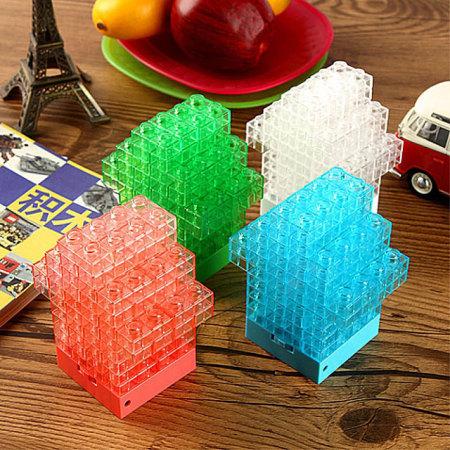 Lampe Mini Briques changement de couleur - Transparente