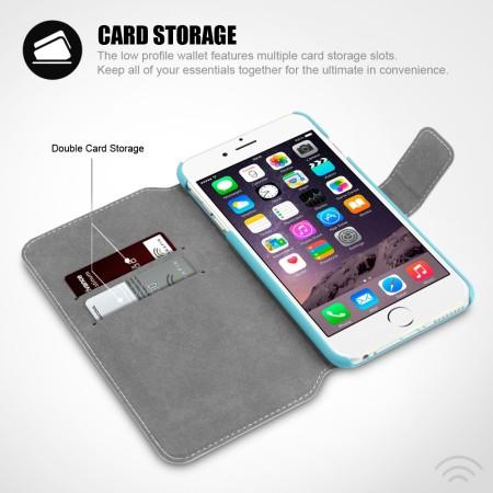 Encase Low Profile iPhone 6S Plus / 6 Plus Wallet Stand Case - Blue